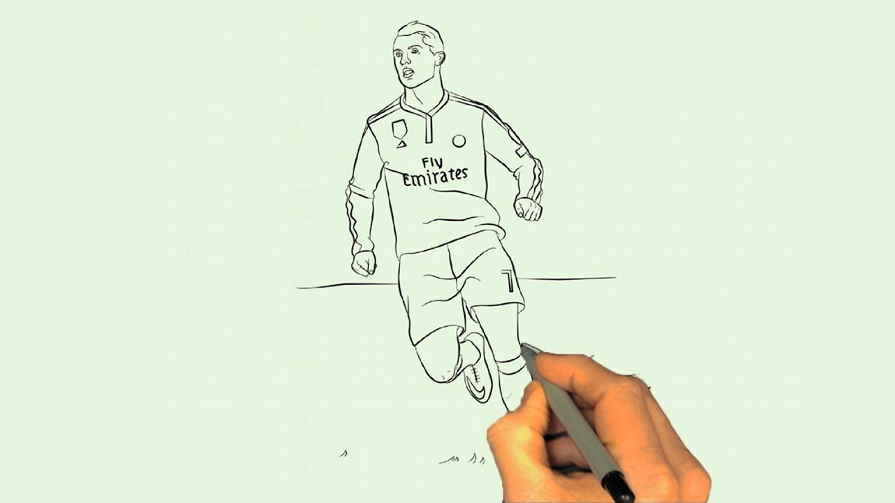 Cristiano Ronaldo Draw Cr7 Drawing Easy Learn Painting Cr7