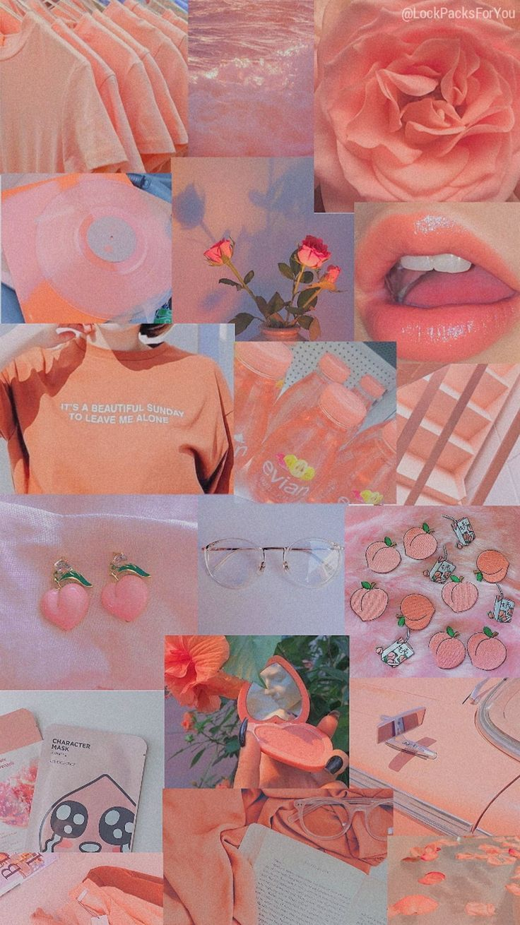 Aesthetic Collage Wallpaper Pink Aesthetic