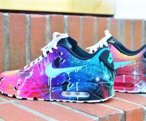 Galactic Themed Nike Air Max 90 | Schoenen, Nike schoenen