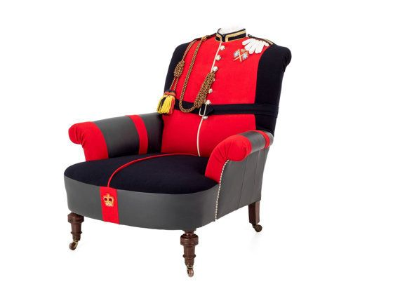 These Incredible Chairs Have Military Uniforms Instead Of
