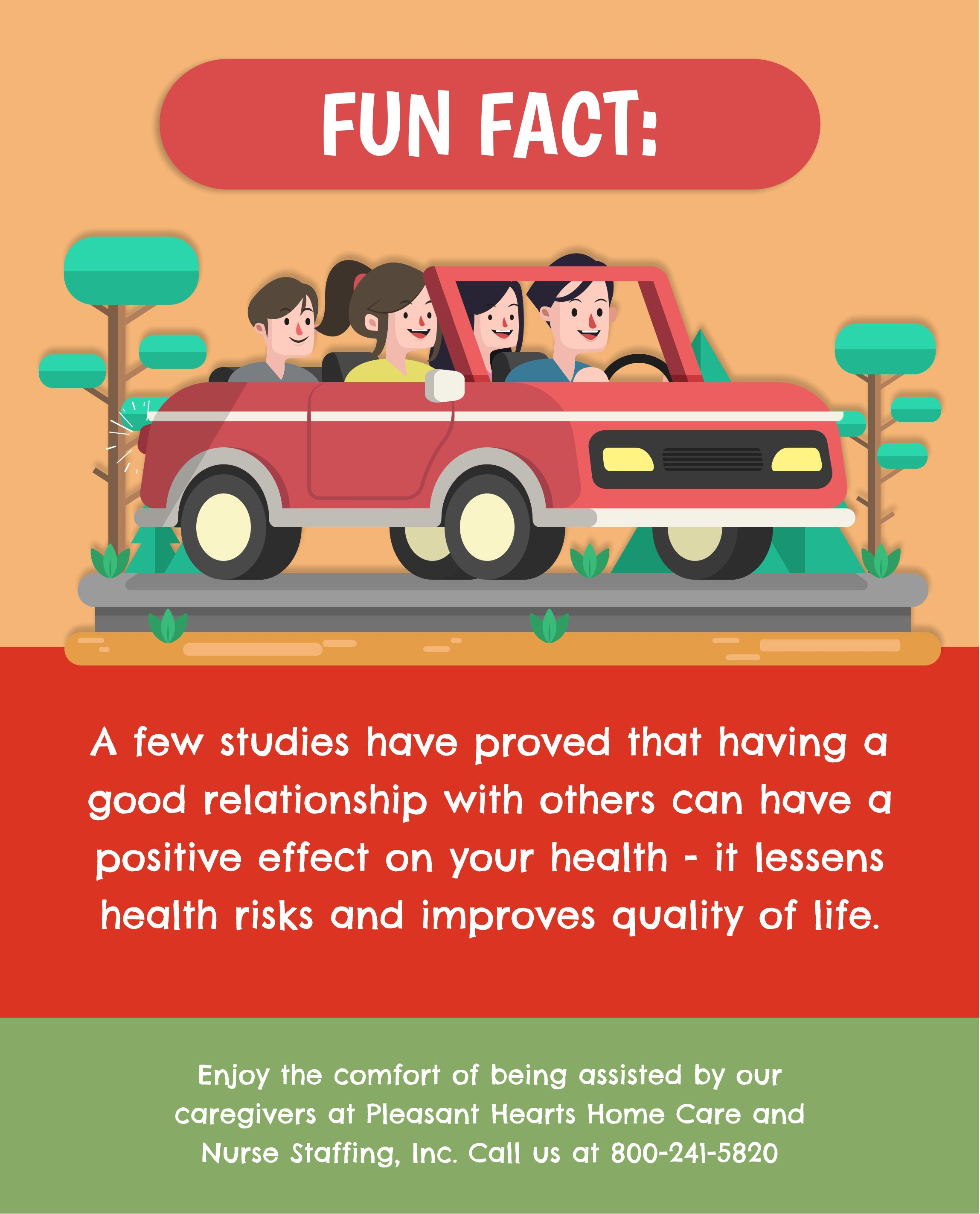 Fun Fact A few studies have proved that having a good