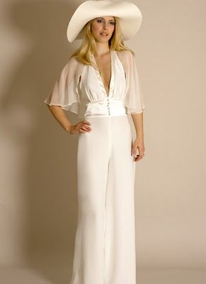 """I very nearly bought this wedding """"dress"""" - it's actually a jumpsuit. It was my no.2 choice."""