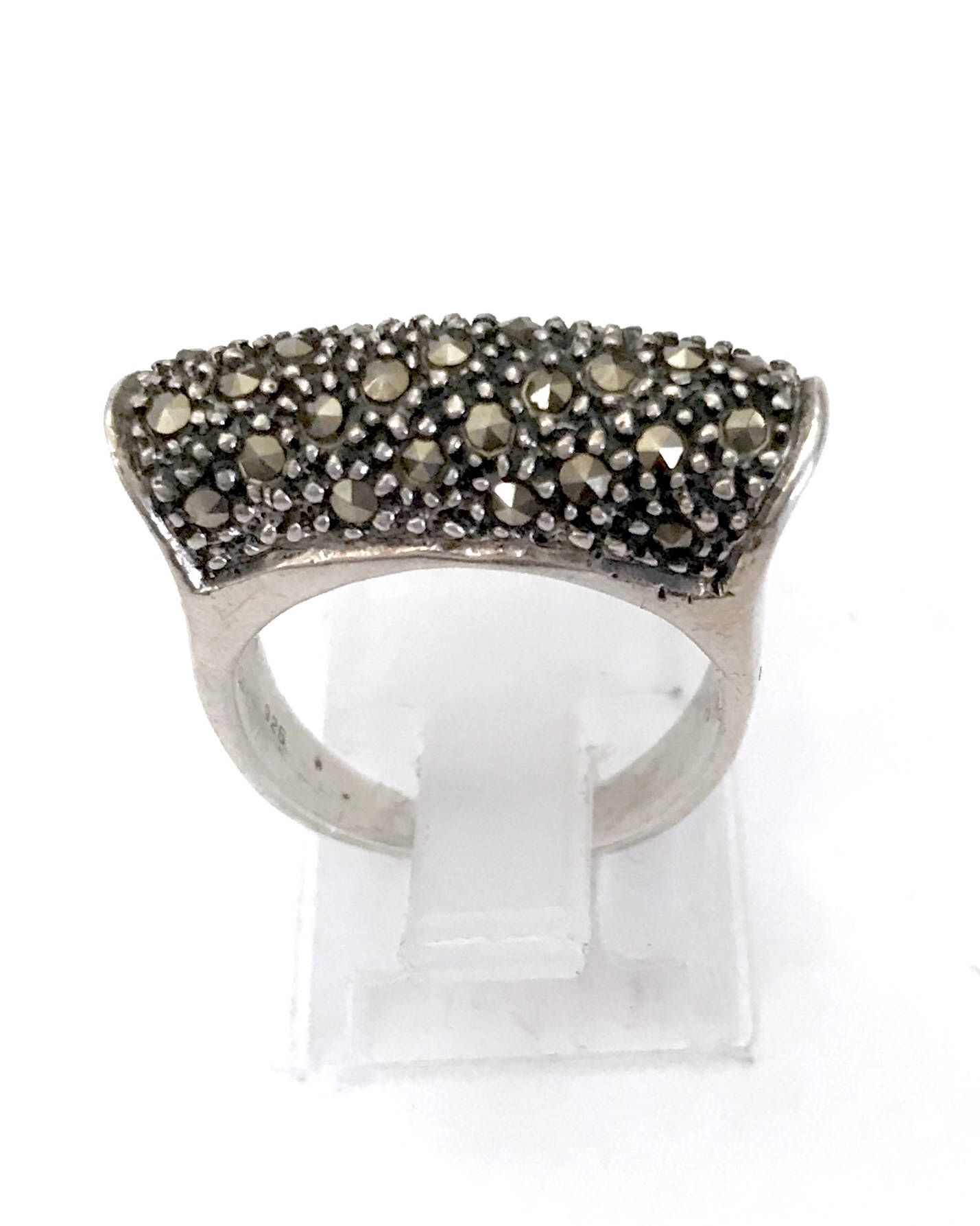 864bc06e9 Excited to share the latest addition to my #etsy shop: Judith Jack Sterling  Silver Marcasite Ring, Modernist Style, High Profile Marcasite Bridge, ...