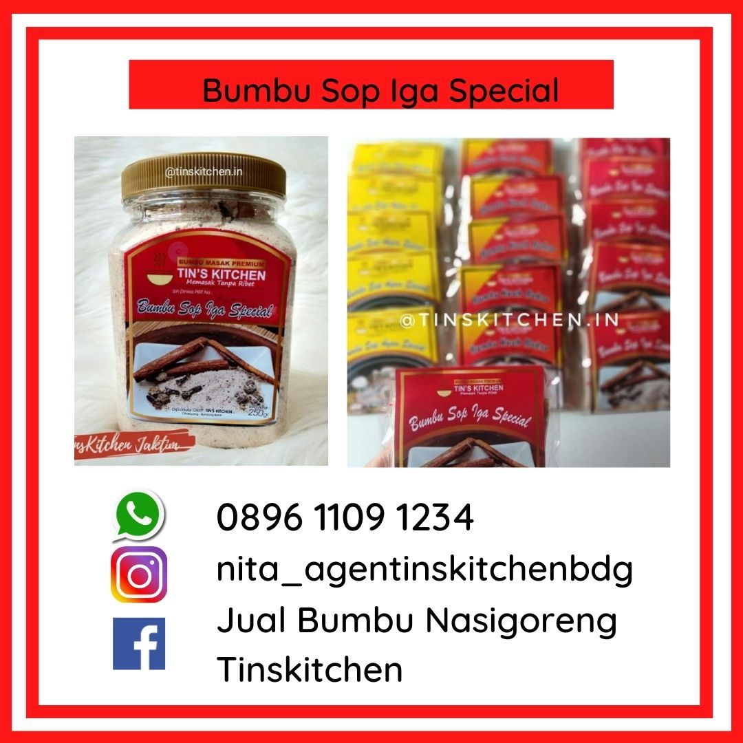 Bumbu Jadi Sop Iga Daging Sapi 0896 1109 1234 Tin Kitchen Food Iga