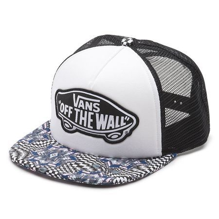 The Beach Girl Trucker Hat is a cotton, polyester adjustable printed trucker  hat with polyester lining and an Off The Wall logo patch.