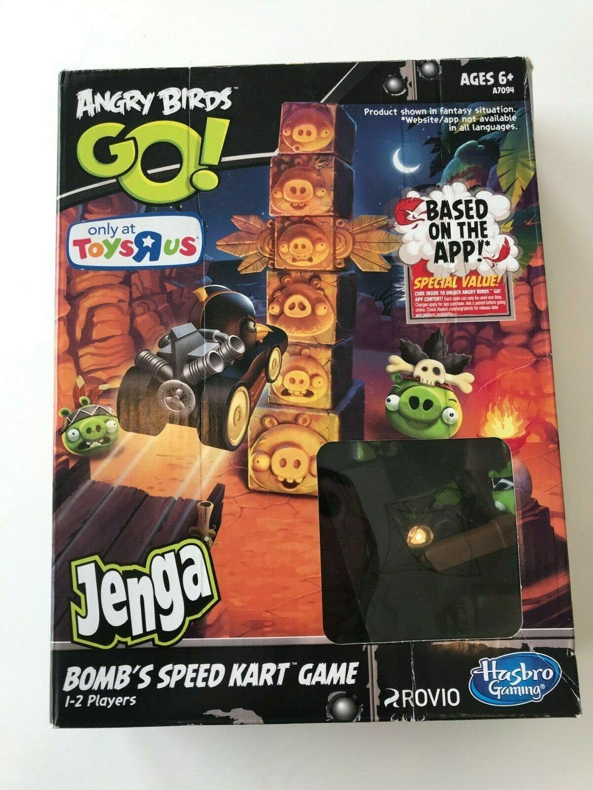 Hasbro Jenga Angry Birds Go Bombs Speed Kart Game Extras! - Angry ...