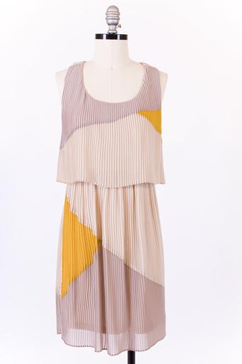 Pleated twist back dress