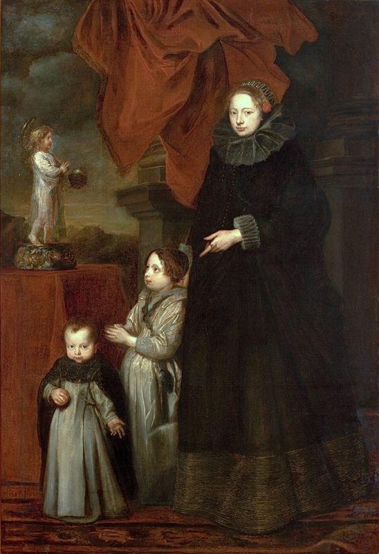 Anthony van Dyck - Retrato da Marquesa Lomellini, com os Filhos em Oração, c. 1623.jpg