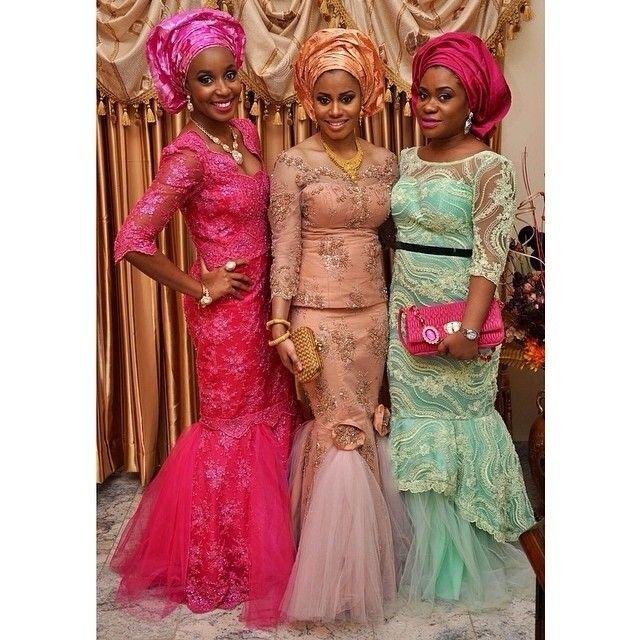 Nigerian Wedding Styles: Nigerian Wedding Ore-iyawo Aso-ebi Styles Special 4