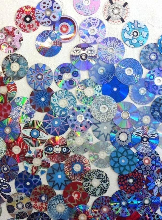 CD Crafts: 70 Ideen und Tutorials Schritt für Schritt - Neu dekoration stile #recycledart