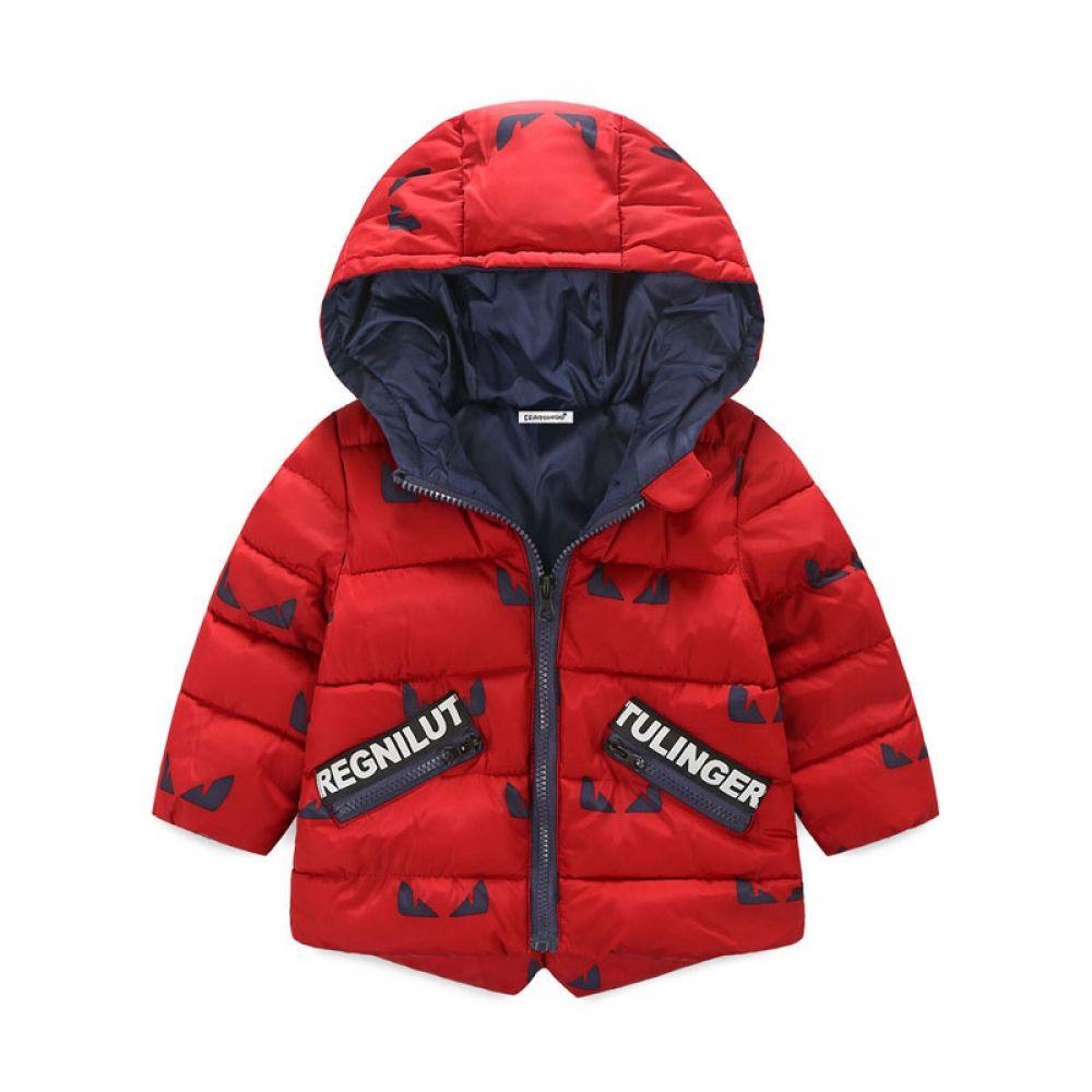 Cartoon Winter Zipper Coats Hoods Padded Lightweight Puffer Jacket Baby Boys Girls Infants Toddlers