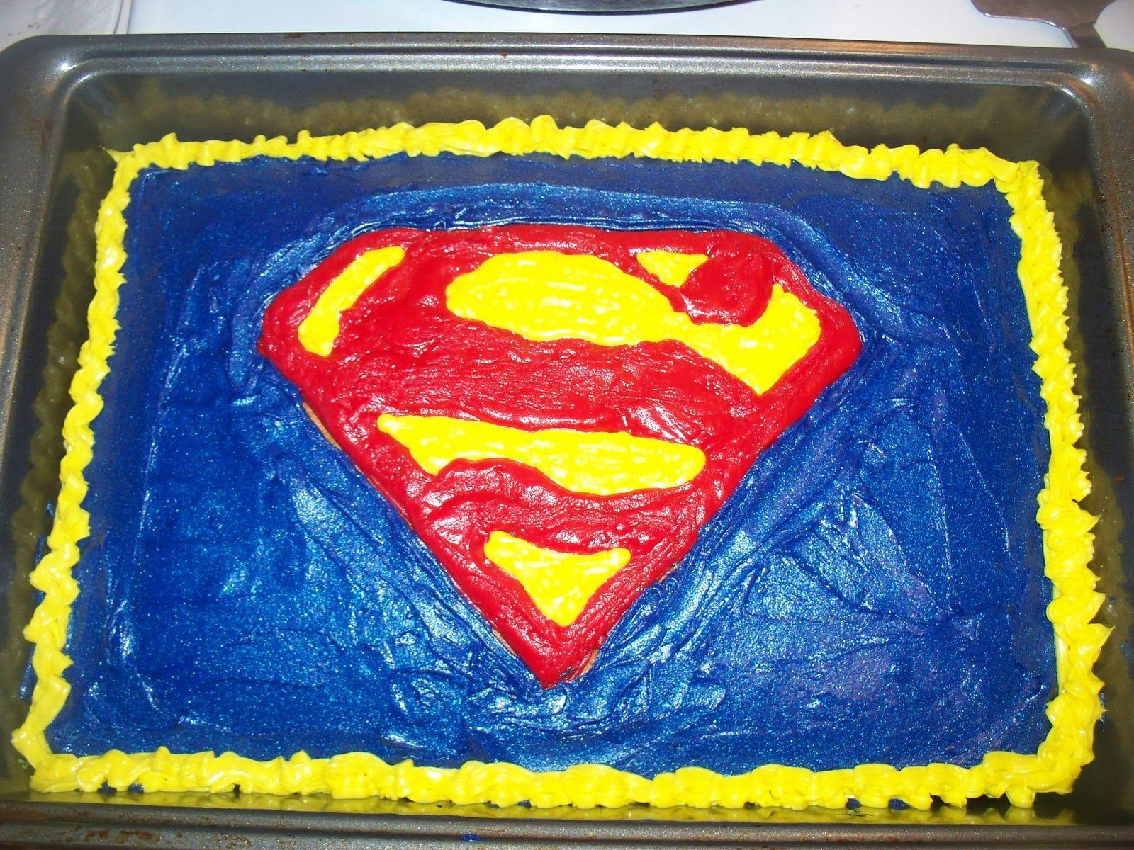 Easy Superman Cake dessert ideas Pinterest Superman cakes