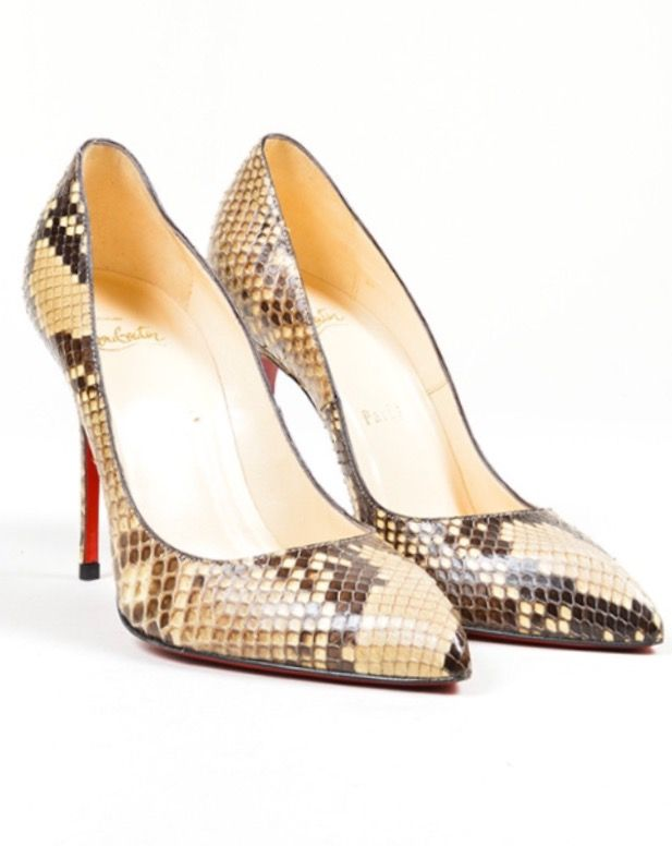 f96d5586600bcc Christian Louboutin Snakeskin Pumps