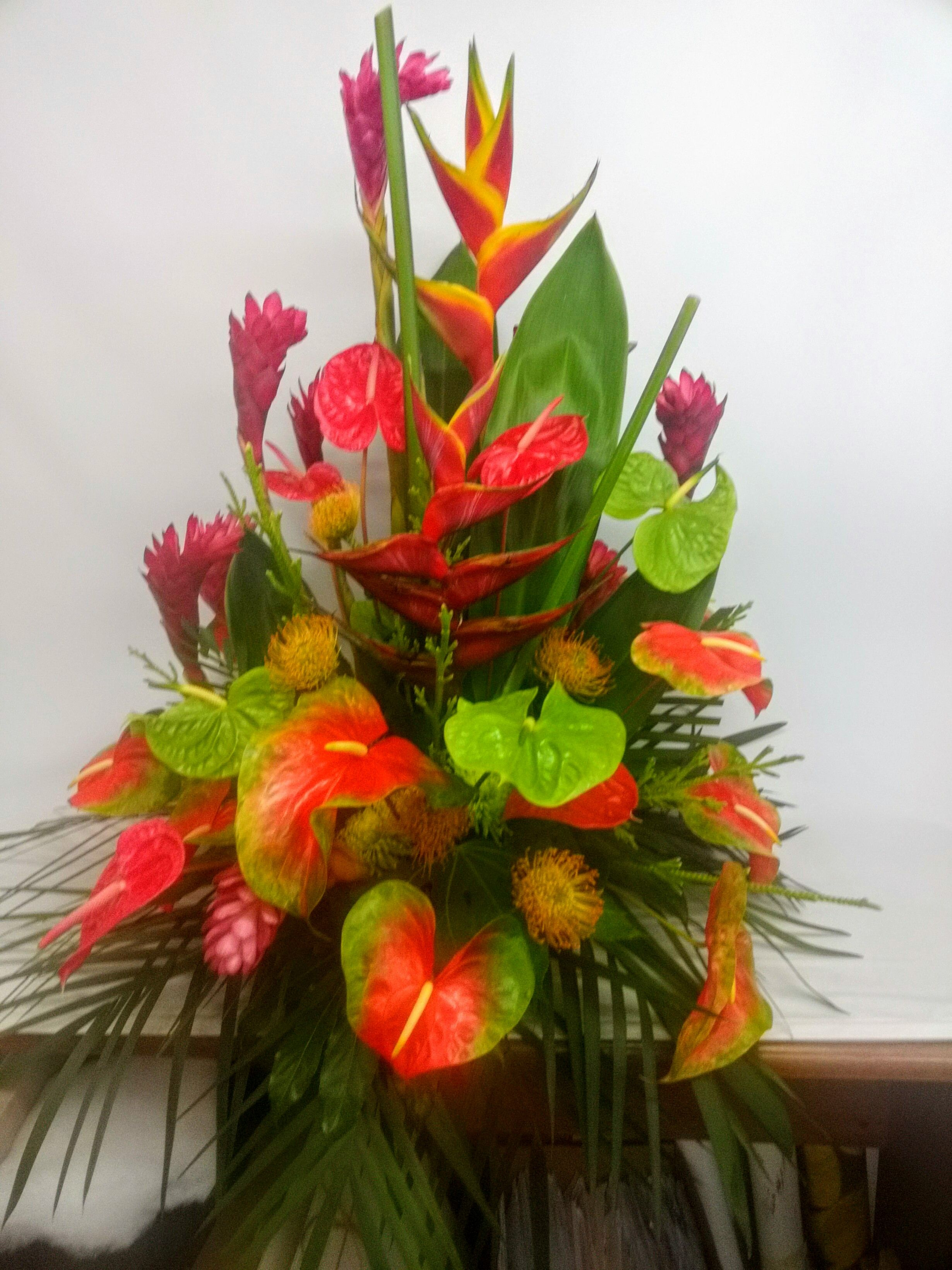 Tropical flowers make a gorgeous bouquet! | Flower bouquets for all ...