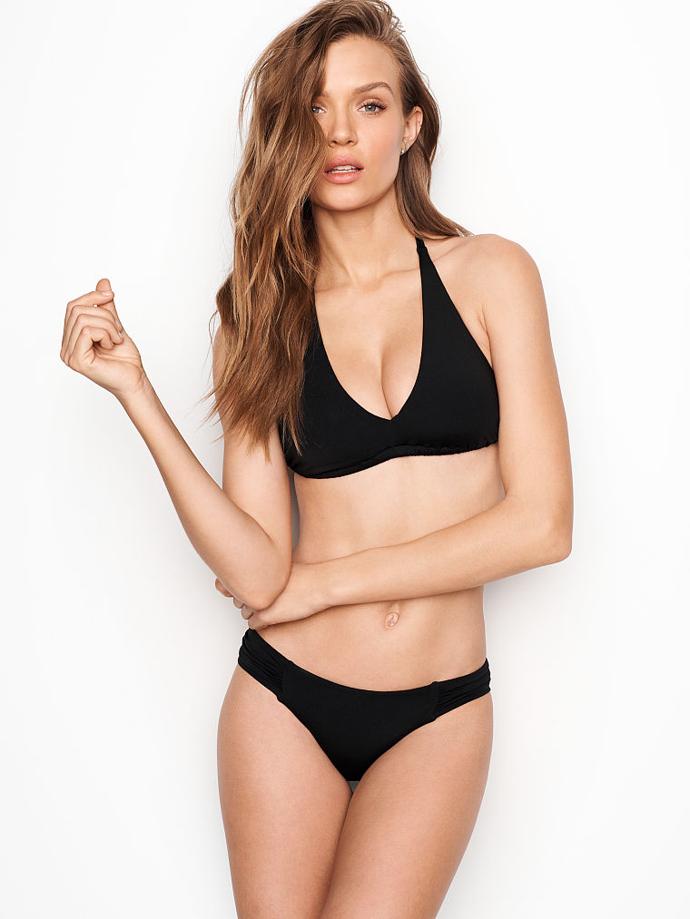 D Cup Triangle Top Crochet Swimsuit Top Tie Bikini Top Victoria Secret