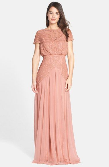 Tadashi Shoji Embroidered Tulle Blouson Gown available at #Nordstrom ...