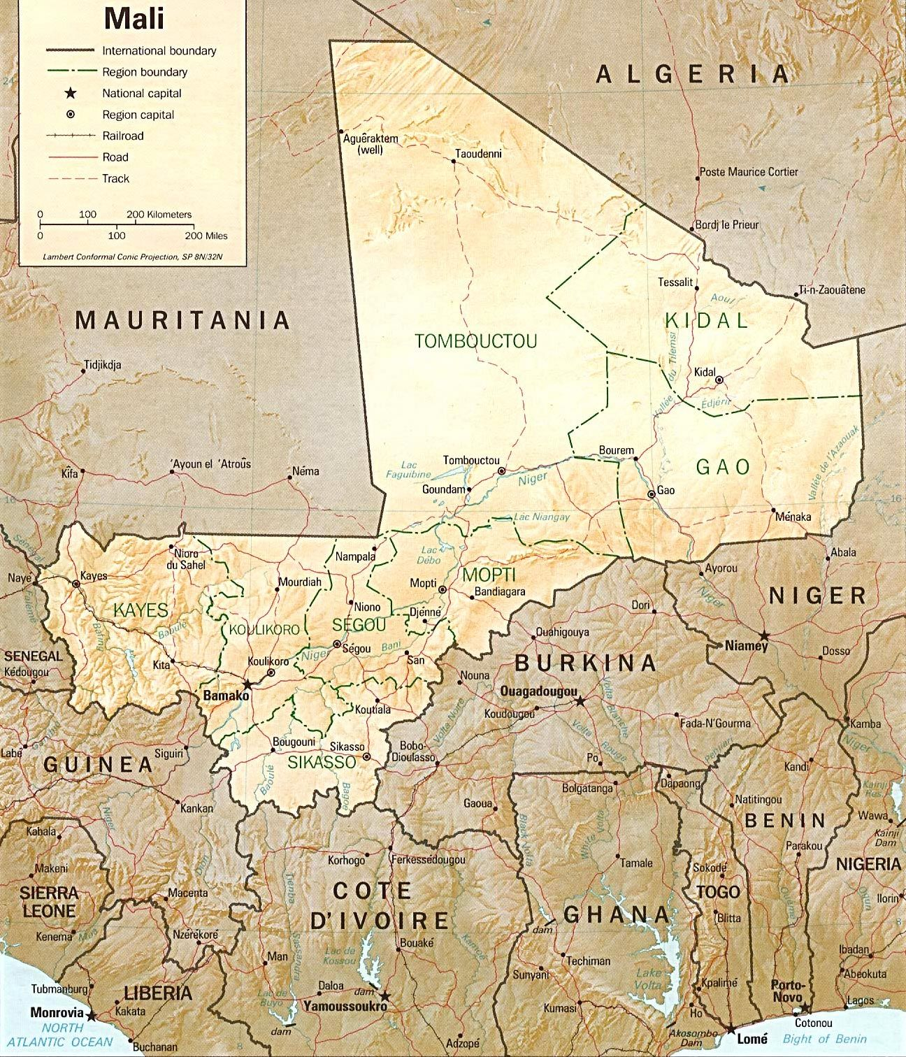 Mali Map Learn More About Africa At Wwwafricacom Traveling In - Mali map
