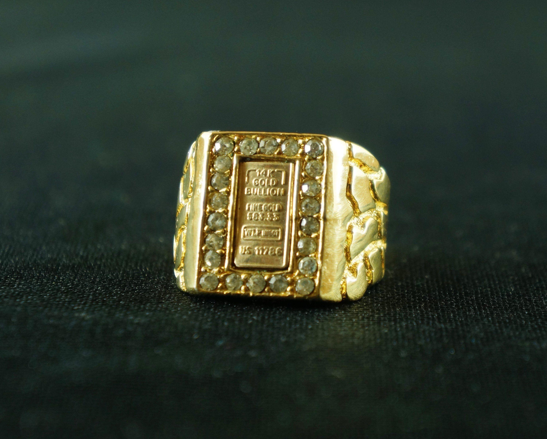 14k Gold Bullion Fine Ring