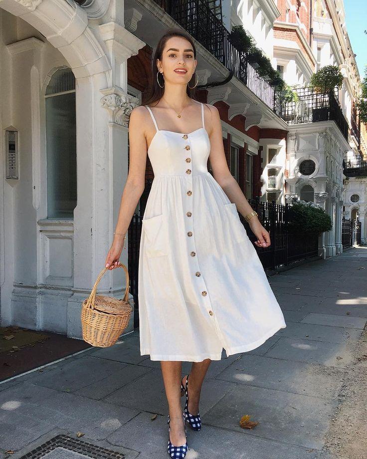 2ce3dbc97a13 Summer dress | Clothes em 2019 | Vestidos de linho, Roupas femininas e  Roupas