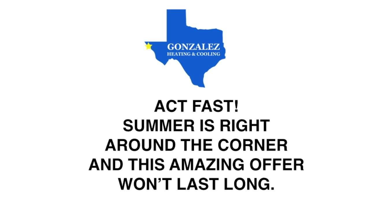 Gonzalezep Offer With Images Heating And Cooling Gonzalez Ac