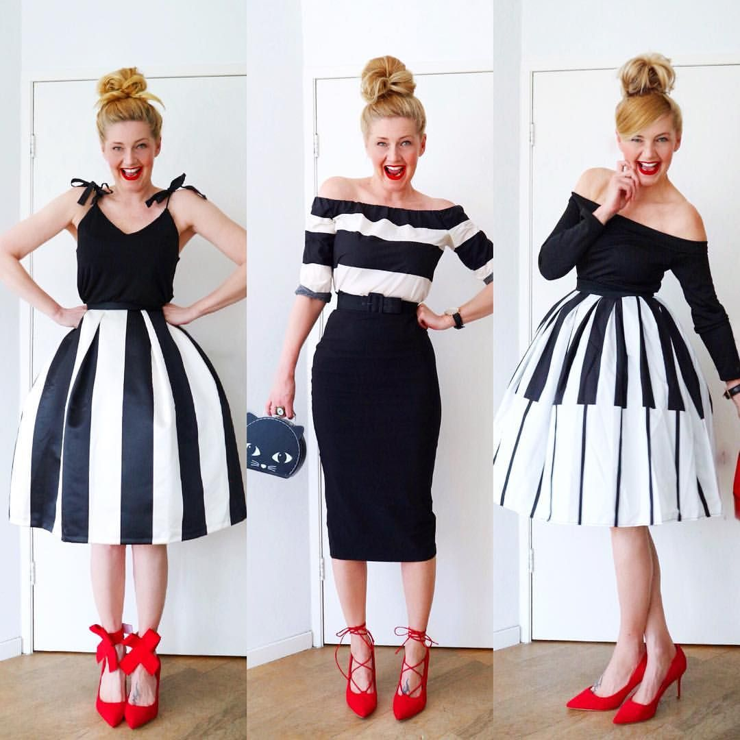 Friday Overview In Black White And A Touch Of Red This Colour Combination Will Always Be A Favourite Fabulous Clothes Red Accesories Color Combinations