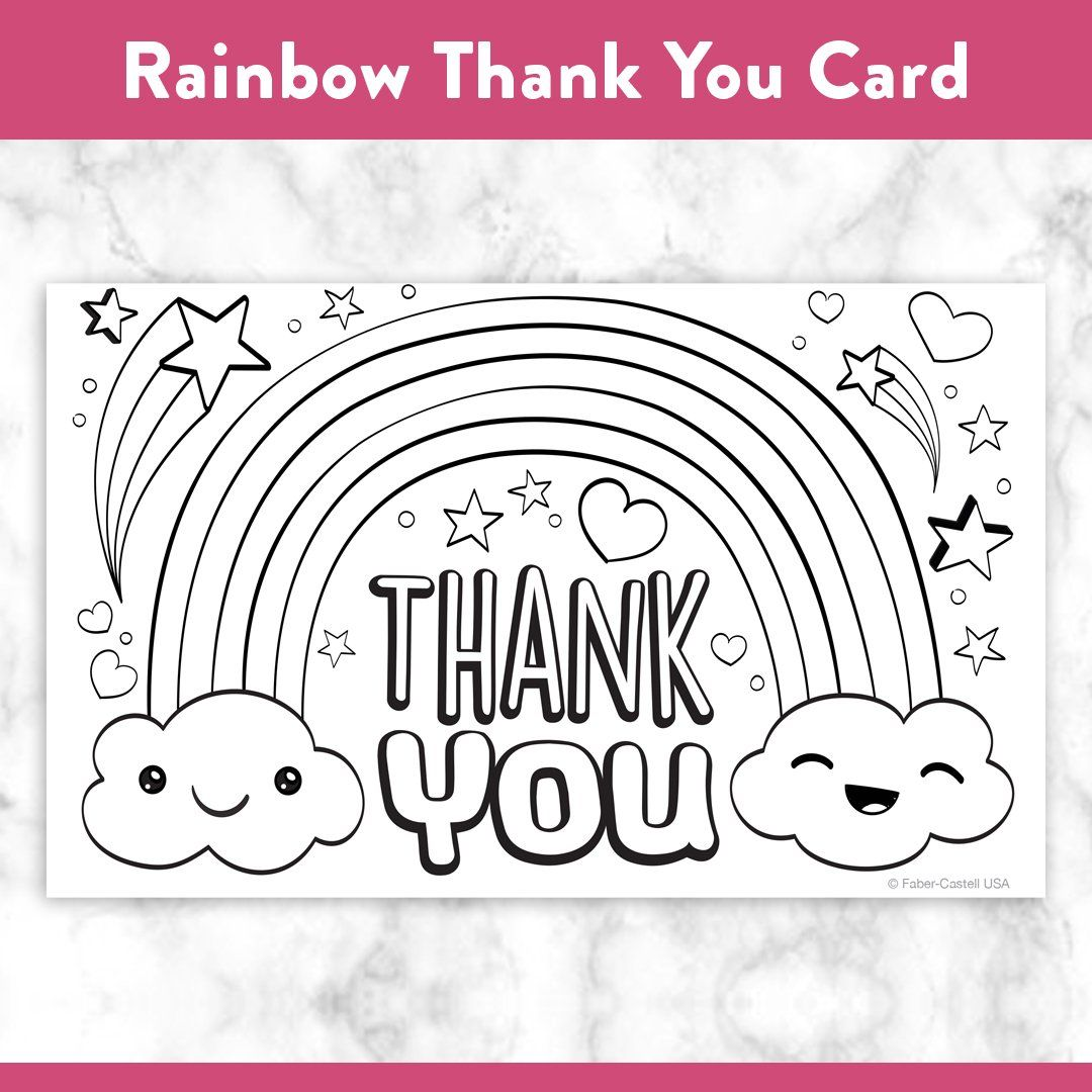 Printable Coloring Thank You Cards in 6  Coloring pages