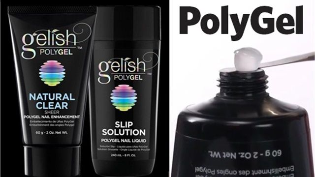 How To Use Polygel By Gelish Natural Nail Overlay And Reverse French Natural Nails Gel Nail Tutorial Gelish Polygel