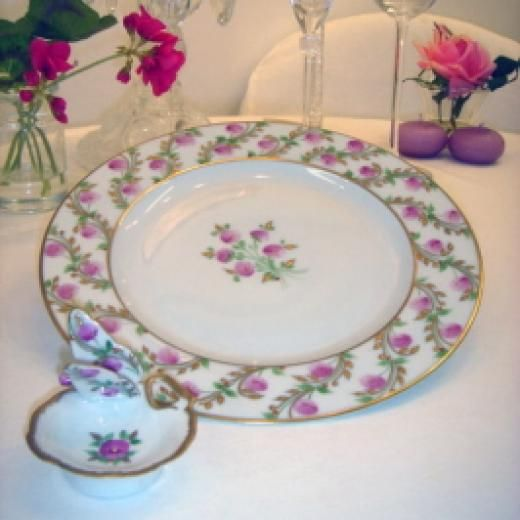 Limoges porcelain hand painted plate,
