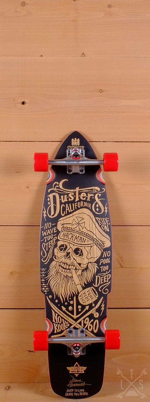 "Dusters Prebuilt 34"" Hackman Longboard"