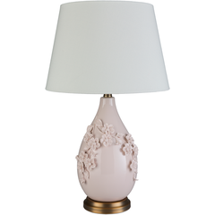 The Blush Pink Turnbury Table Lamp By Surya Has A Traditional Style With 3d Flower And Vine Details Tnb 00 Traditional Table Lamps Blue Table Lamp Table Lamp