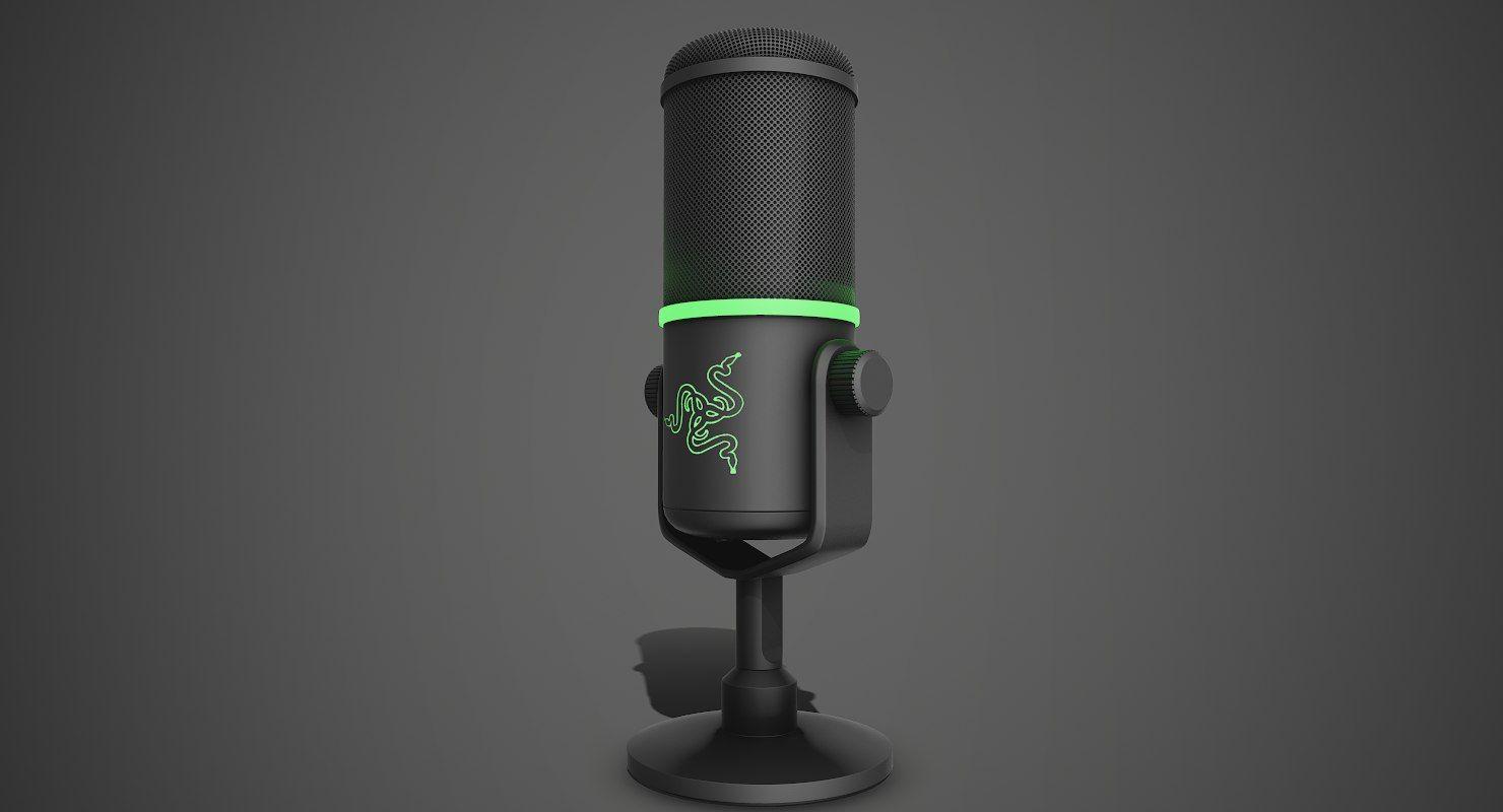 Microphone Razer Seiren Elite 3d Model Razer Microphone 3d Model