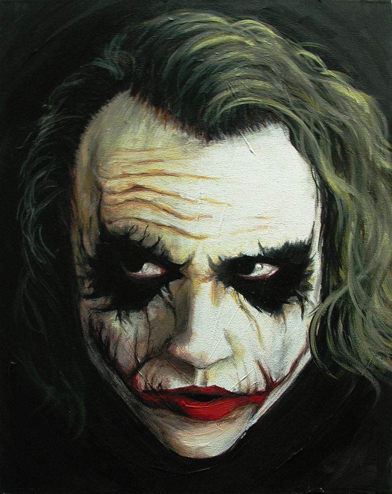 The Joker Fanart Google Search Joker Painting Joker