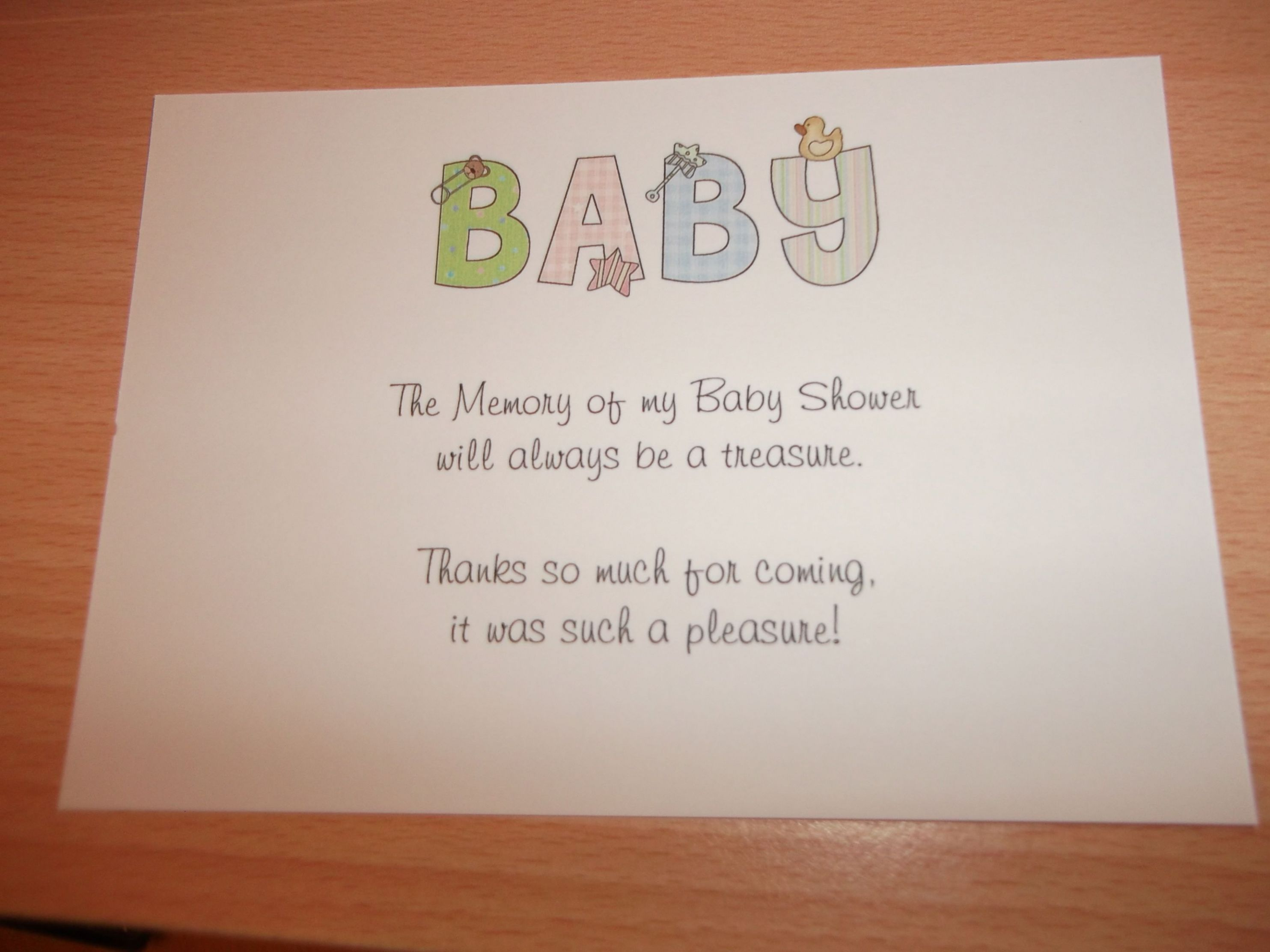 Baby Gift Thank You Wording From Baby : Baby shower thank you gifts bing images things