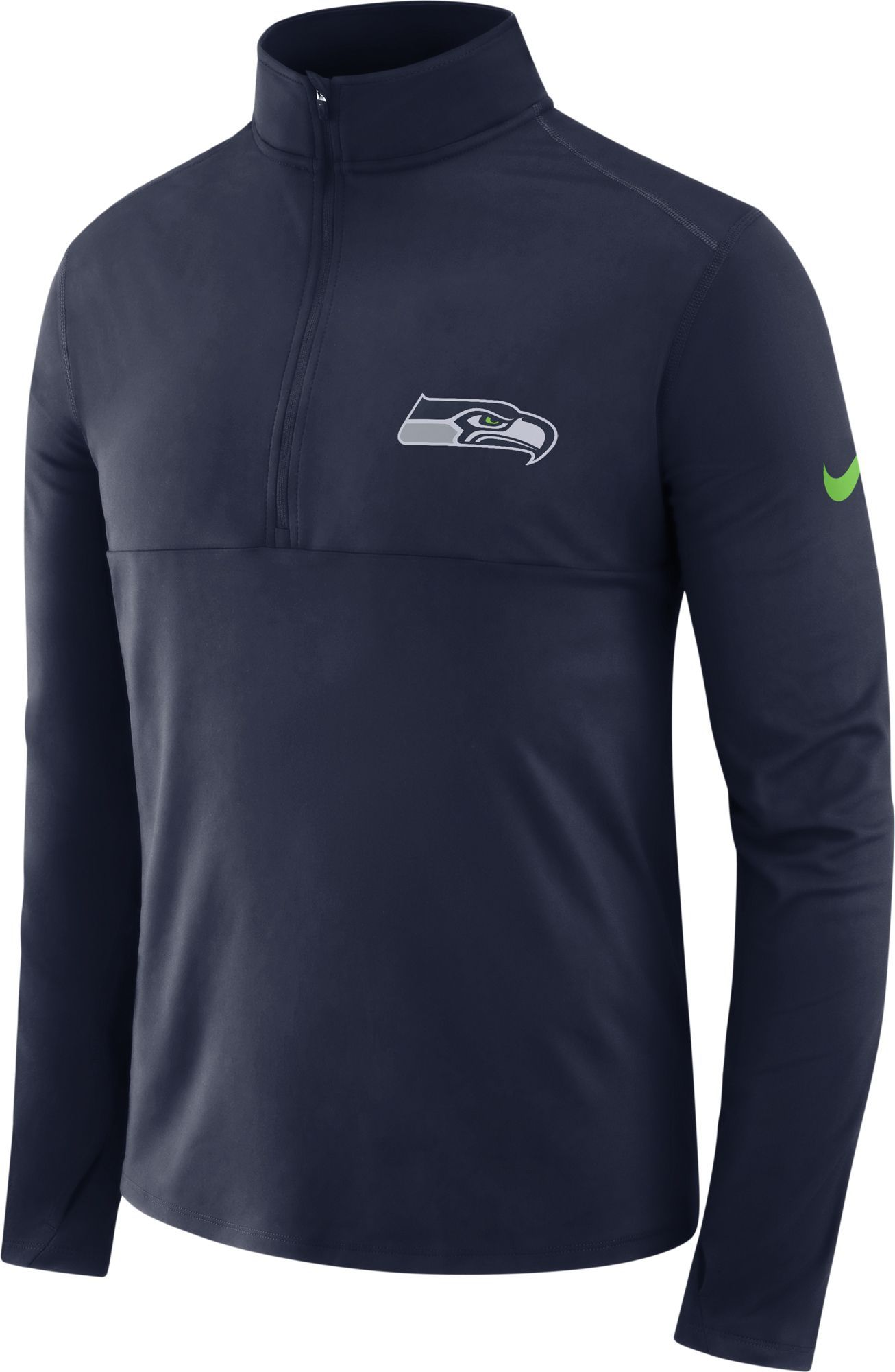 Nike Men s Seattle Seahawks Core Performance Navy Half-Zip Pullover ... 94ce9b5ad