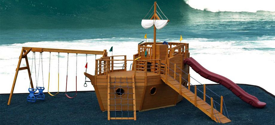 playhouse swing set plans pirate ship playhouses my house