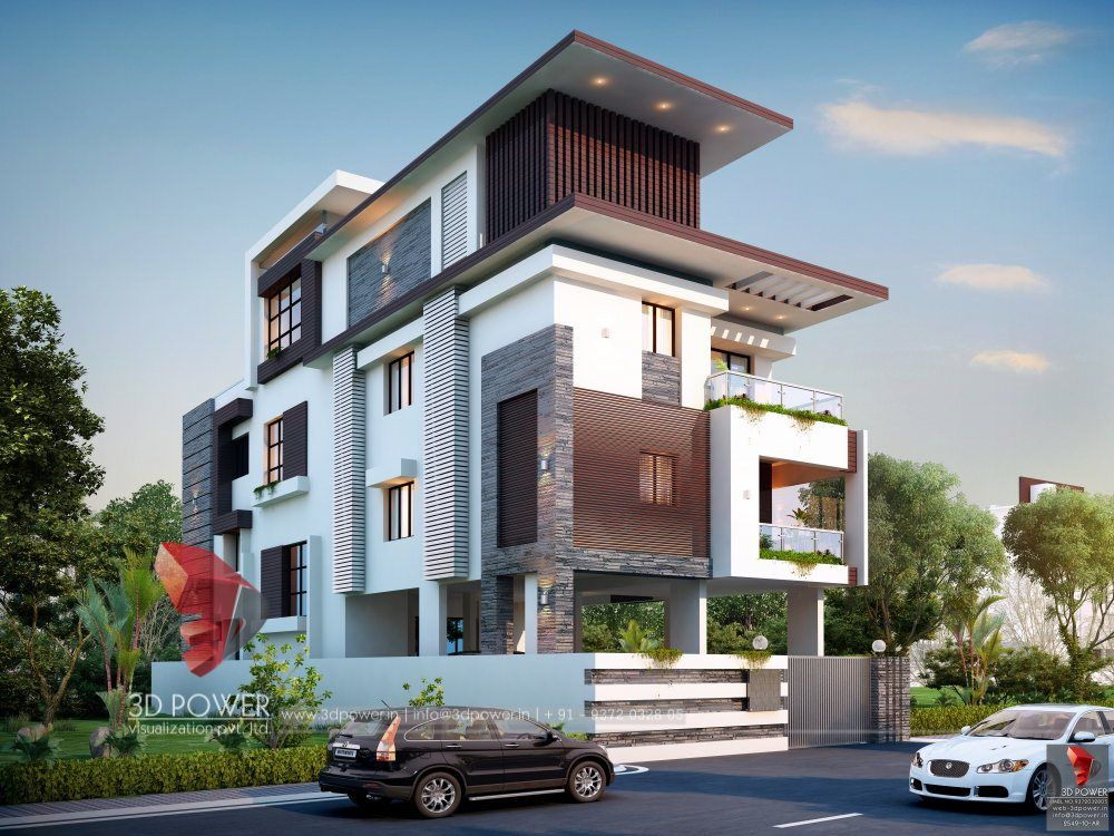 3D Rendering Of A Modern House | House designs exterior ...