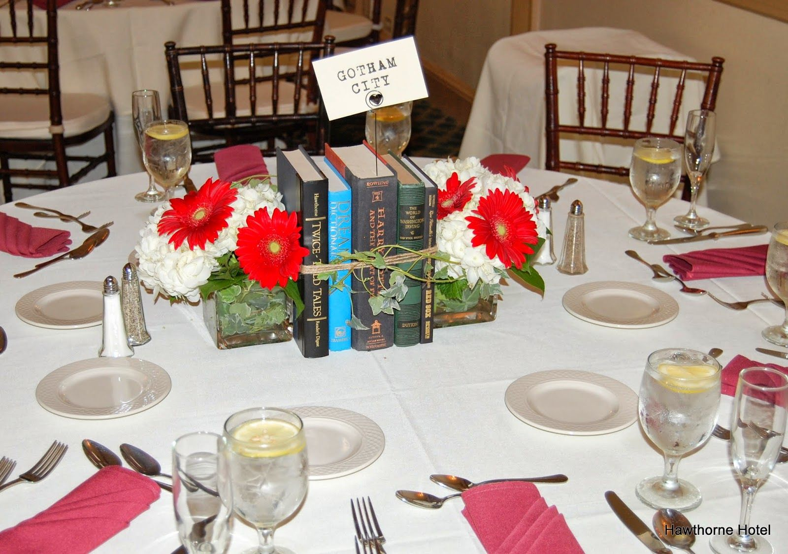 old books table decorations Google Search Book theme