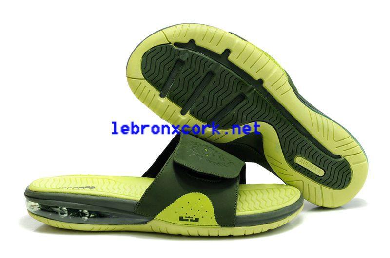 Air Lebron James Slides Lime Green Jade 487332 300 | Lebron