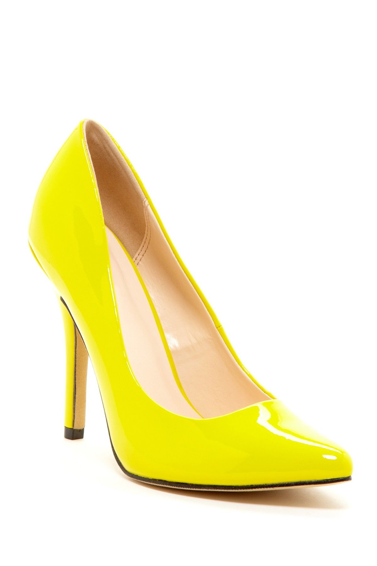 BIGTREE Patent Leather Thin Heels Office Shoes Women