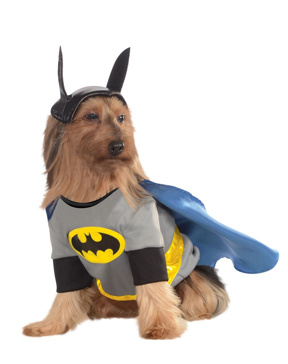 Batman Pet Costume at Spirit Halloween - Your pup will look super duper adorable in the officially licensed Batman Pet Costume! Shirt with detachable cape ...  sc 1 st  Pinterest & Batman Pet Costume at Spirit Halloween - Your pup will look super ...