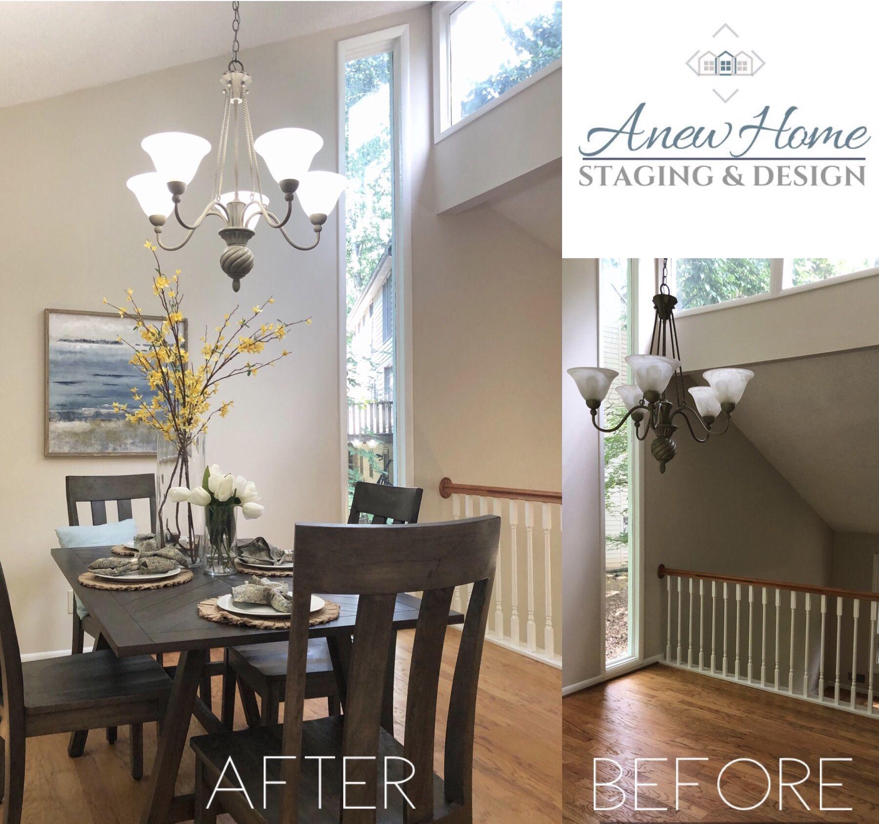 Interior Design Home Staging: Dining Room Split Level Home Interior Design In Roswell