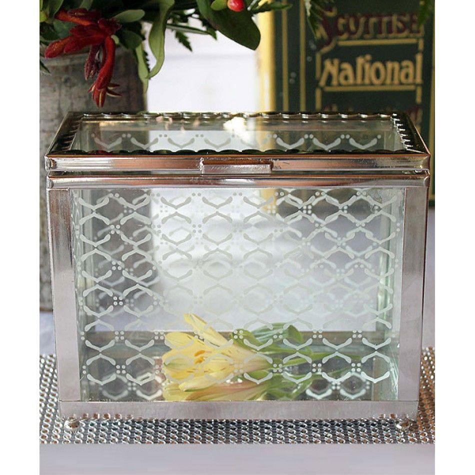 Decorative Glass Box with Mirror Base [977-9239 Decorative Glass Box ...