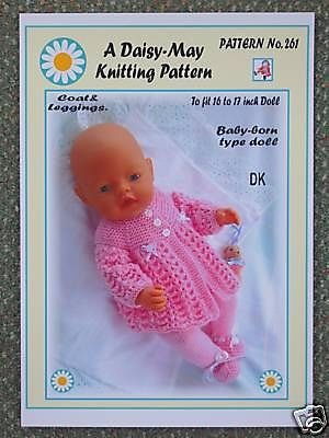 261 for BABYBORN.by Val Young. DOLLS KNITTING PATTERN no