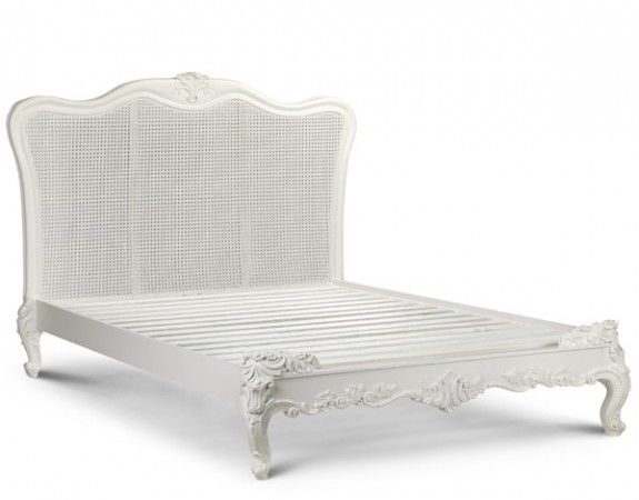 Sophia Rattan French Style Bed French Style Bed Antique White Bedroom Furniture Bed Styling