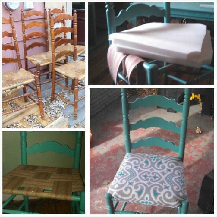 Get Thrifty Upcycled Ladder Back Chairs Dining Chair