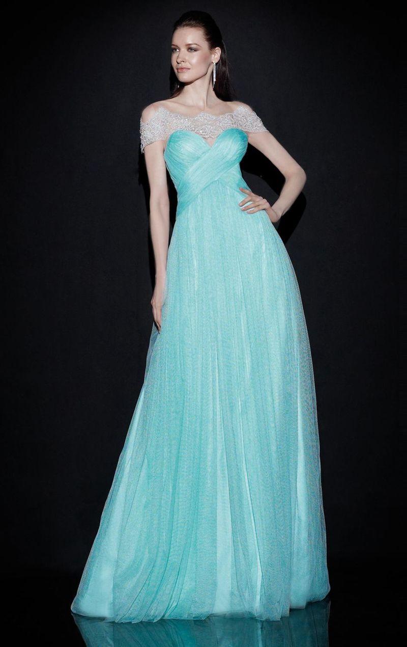 Plus Size Elegant Elie Saab Long Evening Dresses Floor-Length A-Line ...