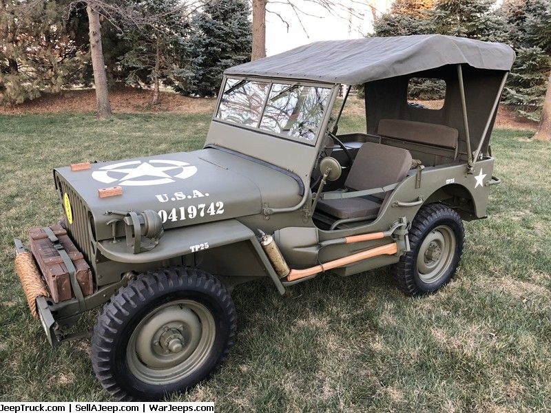 Military Jeeps For Sale And Military Jeep Parts For Sale 1945