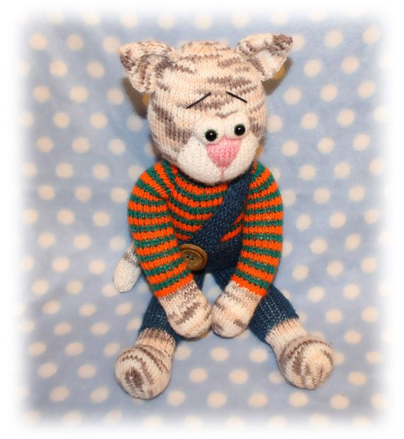 Thomas Cat Knitted Toy Pattern An Extremely Soft By Lhcpatterns
