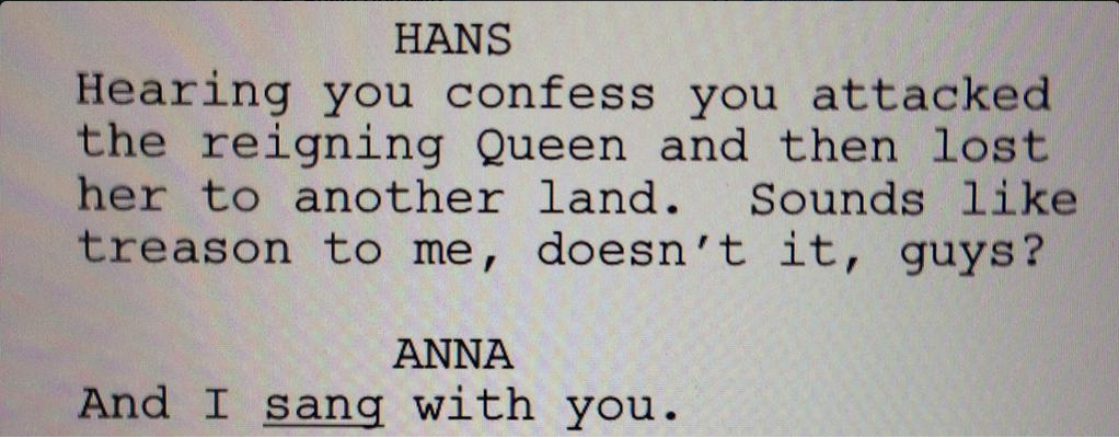 Adam Horowitz ‏@AdamHorowitzLA: Turkey coma? Then plz digest this #OnceUponATime #scripttease! New ep Sunday! Hope to see ya! #OnceIsFrozen