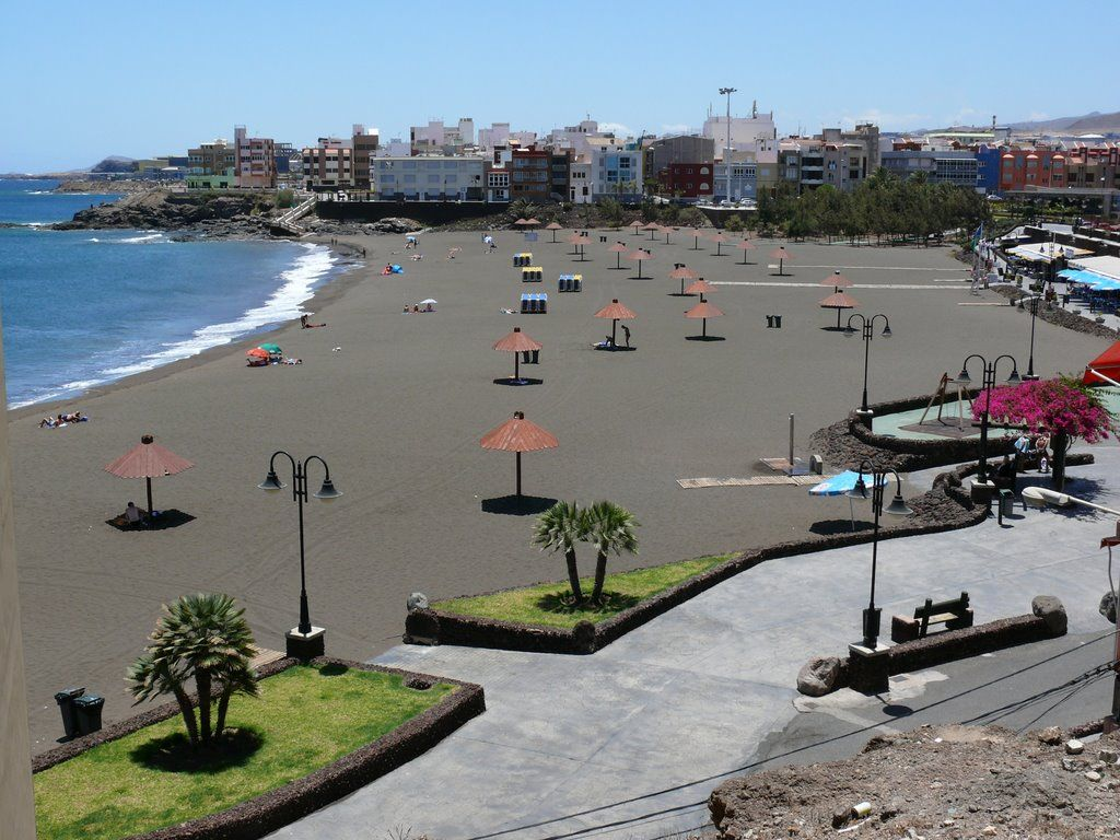 Playa De Melenara Telde Gran Canaria Isla Canarias Islas